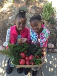 Claudia's Great Nieces Haniah and Hazina Loves Gardening