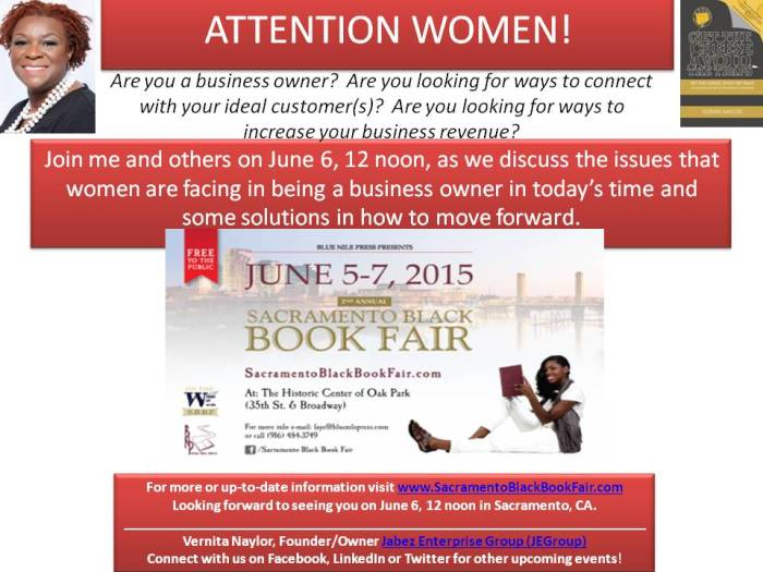 ATTENTION WOMEN! Ad for Book Fair